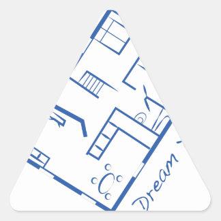 Dream House Triangle Sticker
