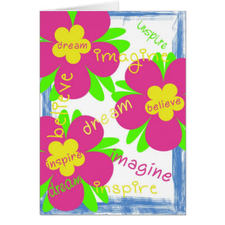 Dream imagine believe 12 step recovery card