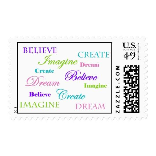 Dream Imagine Create Believe Postage