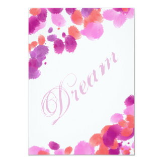 "Dream Imagine Smash Book Page Scrapbooking Card 4.5"" X 6.25"" Invitation Card"