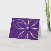 Dream in Amethyst Christmas Card
