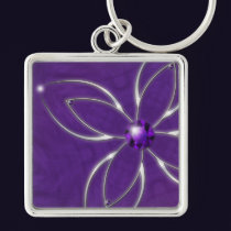 Dream in Amethyst Keychain