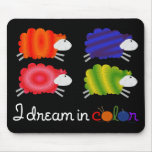 dream in color sheep mouse pad