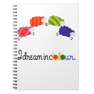 Dream in Colour Knitting or Crochet Projects Notebook