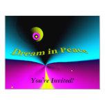 """Dream in Peace 4.25"""" X 5.5"""" Invitation Card"""