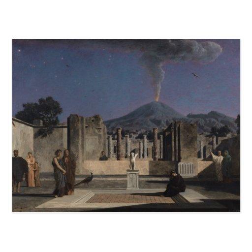Dream in the Ruins of Pompeii, 1866 Postcard