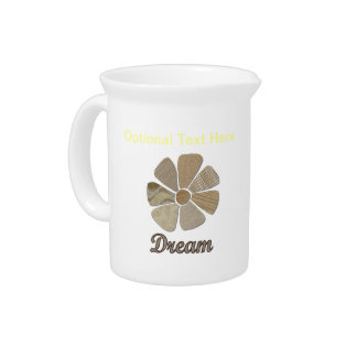 Dream Inspiration Collage Beverage Pitcher