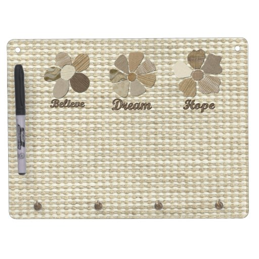 Dream Inspirational Collage Dry Erase Board