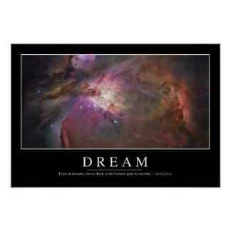 Dream: Inspirational Quote Poster