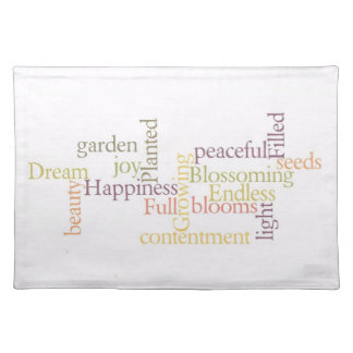 Dream Inspirational Words Cloth Placemat