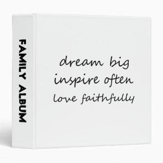 Dream Inspire Love Vinyl Binders