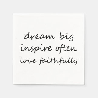 Dream Inspire Love Paper Napkin