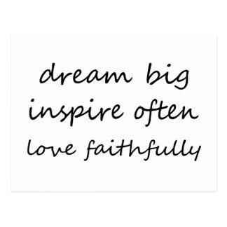 Dream Inspire Love Postcard