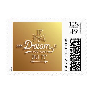 Dream Inspire Motivate Stamp