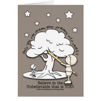 Dream Into Reality-Little Boy, Big Dreams Logo Card