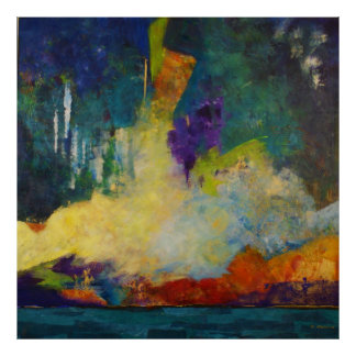 Dream Island Abstract Art Poster, SkyLake Poster