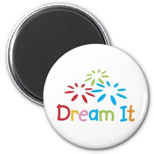 Dream It 2 Inch Round Magnet