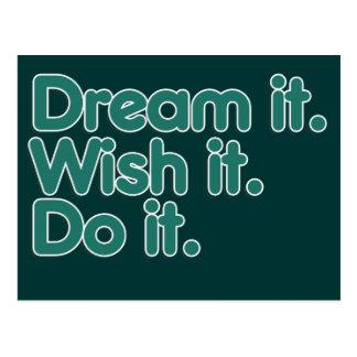 Dream it an inspiration for motivation postcard
