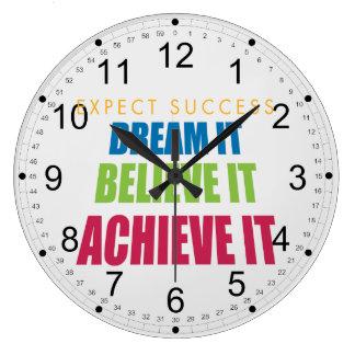 Dream It and Achieve It Clock