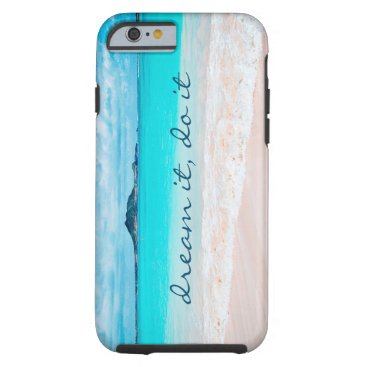 "Beach Themed ""Dream it"" turquoise beach photo cell phone case"