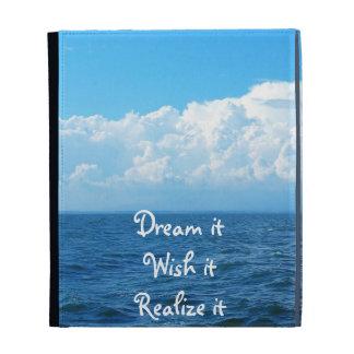 Dream it wish it Realize it quote sea design iPad Folio Cases