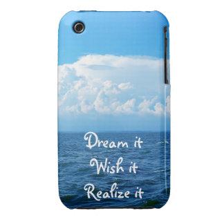 Dream it wish it Realize it quote sea design iPhone 3 Cover