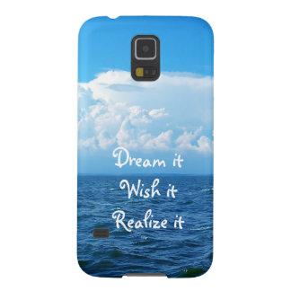 Dream it wish it Realize it quote sea design Case For Galaxy S5