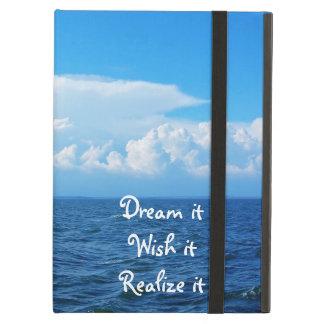 Dream it wish it Realize it quote sea design Case For iPad Air