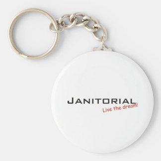 Dream / Janitorial Basic Round Button Keychain