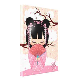 "Dream Kokeshi Doll 18"" x 24"" Wrapped Canvas Canvas Print"