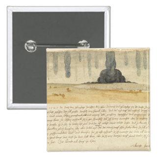 Dream landscape with text, 1526 2 inch square button