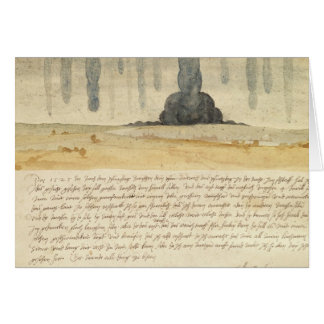 Dream landscape with text, 1526 card