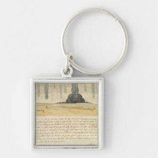 Dream landscape with text 1526 keychains