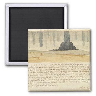 Dream landscape with text, 1526 magnet