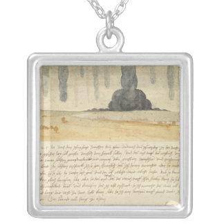 Dream landscape with text 1526 necklaces