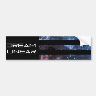 Dream Linear Dream Flag Bumper Sticker Car Bumper Sticker