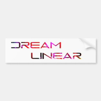 Dream Linear Logo Bumper Sticker