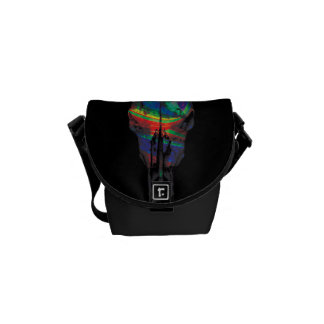 Dream Linear Skull Messenger Bag
