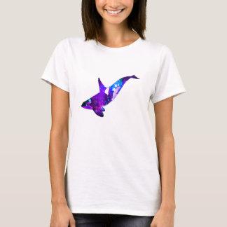 Dream Linear Space Whale Womens T-shirt