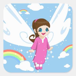 Dream Little Girl Square Sticker