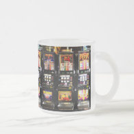 Dream Machines - Lucky Slot Machines 10 Oz Frosted Glass Coffee Mug