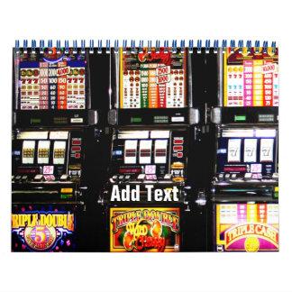 Dream Machines - Lucky Slot Machines Calendar
