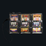 """Dream Machines - Lucky Slot Machines Coin Purse<br><div class=""""desc"""">Slot machines,  each one a winner!  ~ Here at the *Las Vegas Icons* Store,  you&#39;ll find designs including some of the most popular sights in Las Vegas,  including the Las Vegas Welcome Sign,  simulated Poker chips,  dice and craps tables. Click the - LASVEGASICONS - in the tags below.</div>"""