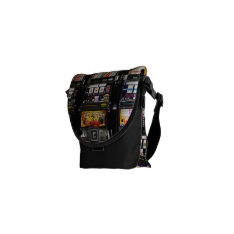 Dream Machines - Lucky Slot Machines Courier Bag at Zazzle