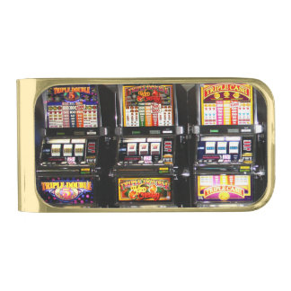 Dream Machines - Lucky Slot Machines Gold Finish Money Clip