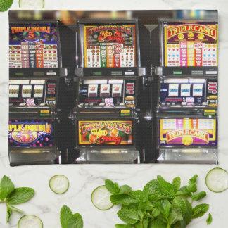 Dream Machines - Lucky Slot Machines Kitchen Towel