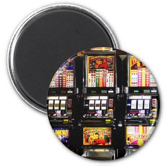 Dream Machines - Lucky Slot Machines 2 Inch Round Magnet