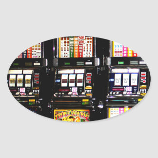 Dream Machines - Lucky Slot Machines Oval Sticker