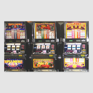 Dream Machines - Lucky Slot Machines Rectangular Sticker