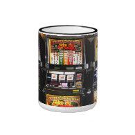 Dream Machines - Lucky Slot Machines Ringer Coffee Mug